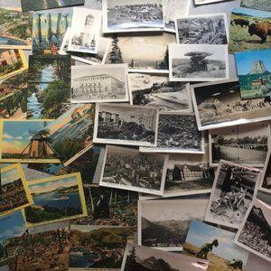 Vintage Wall Art - Vintage Travel Photo Postcard Mystery Box